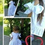 Нежное платье на девочку нарядное хлопковое