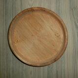 большая деревянная тарелка ручная работа-ольха