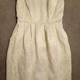 Нарядное платье-бюстье фирмы h&m р.8 рост 165см в идеальном состоянии
