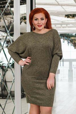 9a9301e8d0d Женское платье-туника в больших размерах 1520-1 Ангора Летучая Мышь Спина в  расцветках