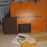 Кошелек,зажим, портмоне, мужской Louis Vuitton, кожа, Франция 025