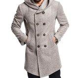 Пальто мужское кашемир шерсть подкладка-атлас Размеры - S M L XL