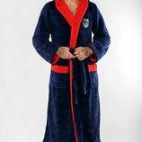 L 48-50 ,XL 50-52 2XL 54/56 Шикарный мужской халат. Длинный с двойным капюшоном на запах