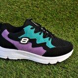 Женские кроссовки найк Nike balenciaga fila черные фиолетовые