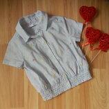 Фирменная легкая блузка m&s малышке 3-4 года состояние отличное
