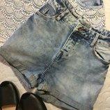 Шорты джинсовые с высокой посадкой new look размер 10 и 14
