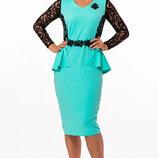 Шикарное вечернее платье стильное XL батал