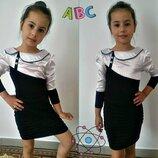 Платье трикотаж стрейч- атлас, размер 122,128,134 ,140.