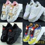 Женские кроссовки Versace Chain Reaction Sneakers. Версаче