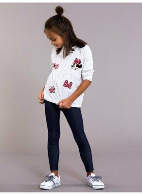Белый реглан для девочки Lc Waikiki / Лс Вайкики с Minnie Mouse