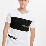 Белая мужская футболка Lc Waikiki / Лс Вайкики с надписью Cutting Corners