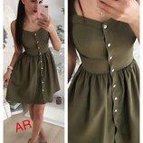 Красивое платье на кнопках,5 цветов