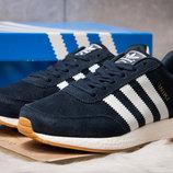 Новинка Кроссовки Adidas Iniki, темно-синий 41 - 46 размер замша