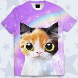 Детская футболка 3D Tricolor kitten Большой выбор