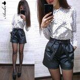 женские кожаные шорты amd 877