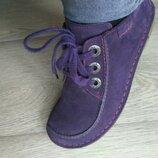 Полностью кожаные ботинки Clarks идеал.сост, 23,5см