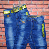 Стильные джинсы с ремнём для мальчика р. 116-134. Венгрия