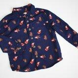 Новогодняя рубашка мальчику 2-3 года от F&F