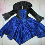 Карнавальное платье летучей мыши паучихи колдуньи TU 3-4г