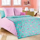 Арбузики - яркое постельное белье для девочек 100% хлопок