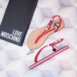 Красные босоножки сандалии бренд Love Moschino р. 37