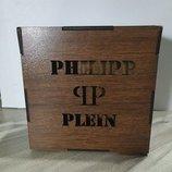 Подарочная деревянная коробка для ремней c логотипом Philipp Plein, брендированая