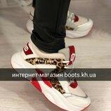 Женские кожаные кроссовки в стиле Dsquared