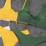 женский молодежный купальник со шнуровкой ок 329
