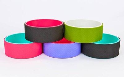 Колесо кольцо для йоги Fit Wheel Yoga 7057 TPE PVC, 32х13см 5 цветов