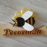 пчелка на утренник. пчелка на обруче, обруч бджілка, бджілка на заколці, пчелка на резинке, пчела