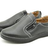 Туфли для мальчика черные Размеры 27-32