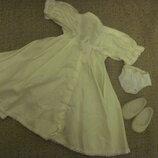 Платье, туфли на куклу Ссср Невесту