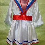 Прокат. Платье Морячка на 5-6 лет.