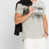 Мужская футболка серая LC Waikiki / Лс Вайкики с надписью The New Imagination