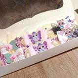 Набор украшений для девочки в розовом цвете в подарочной упаковке
