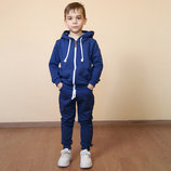 Трикотажный спортивный костюм на мальчика из двунитки/кофта с капюшоном и спортивные штаны с кармана