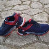 Подростковые кроссовки sport bonote 36-41р темно синие с красным
