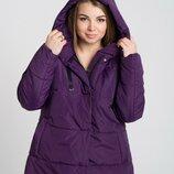 Демисезонная женская куртка 50-64 Демисезонная куртка с капюшоном, для повседневной носки. Модель
