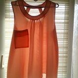Стильная блуза со стройнящим силуэтом. Большой размер XL / 3XL.