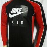 Свитшот - реглан Nike Air черно - красный.