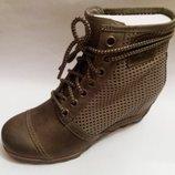 Sorel новые демисезонные кожаные сапоги ботинки 39 41 40 42 оригинал