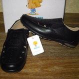школьные туфли мокасины с перфорацией на мальчика в нал 33-38 тм. Том.м