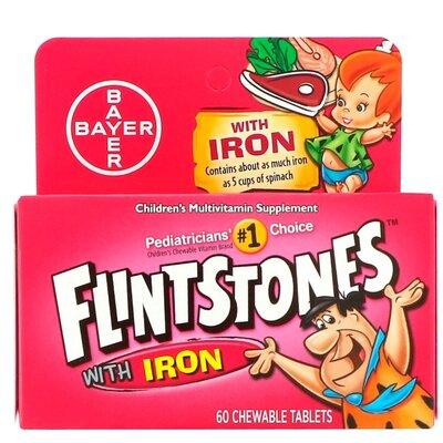 Flintstones, Детские мультивитамины с железом, фруктовый вкус 60 шт