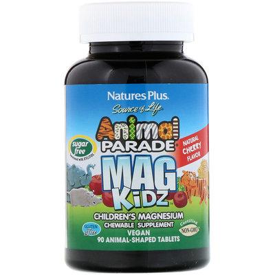 Nature´s Plus, парад животных, Mag Kidz, детский магний 90 шт для детей