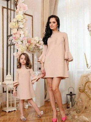 Комплект фемели лук мама дочка платья для мамы и дочки свободные платья