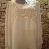Шифоновая индийская блуза 50-54 р
