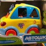 Развивающая музыкальная игрушка сортер Автошка арт. 9198