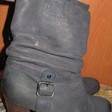 темно сині чоботи р39 Manfield шкіра