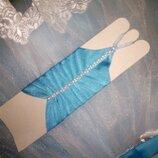 Перчатки детские атлас,гипюр,сетка цвет разный