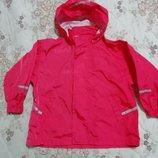 Куртка ветровка дождевик с капюшоном унисекс impidimpi на 3-4года 98-104см